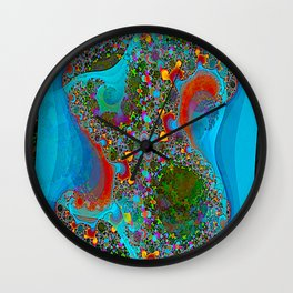 Abstract Topography Wall Clock