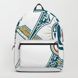 Square and Compass - freemasonry Backpack