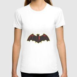 Bat Spread Wing Woodcut T-shirt