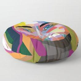 Cara Delevingne - wpap art Floor Pillow