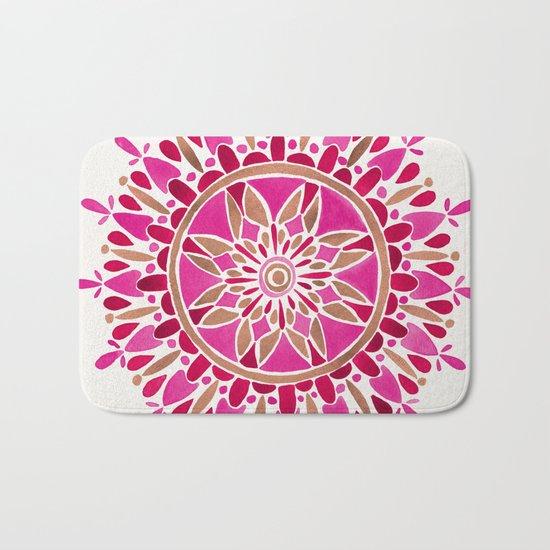 Mandala – Pink & Rose Gold Bath Mat