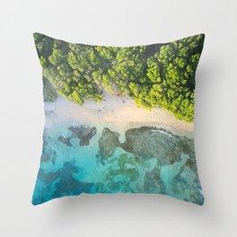 Caribbean Aerial Throw Pillow