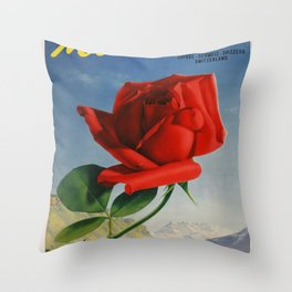 Vintage poster - Montreux, Switzerland Throw Pillow