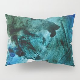 Scenic Route: a pretty, minimal abstract piece in blue and green by Alyssa Hamilton Art Pillow Sham
