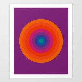 Retro Bullseye Pattern Art Print