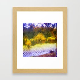 Colorful Lake Painting Framed Art Print
