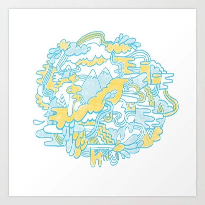 Spaghetti Mountain Art Print
