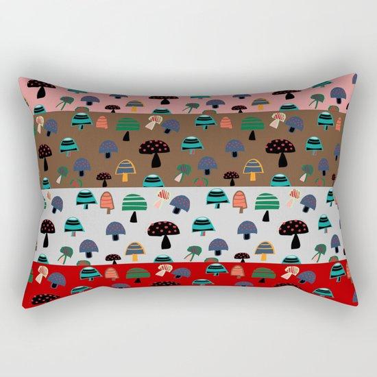 Mushroom patchwork Rectangular Pillow
