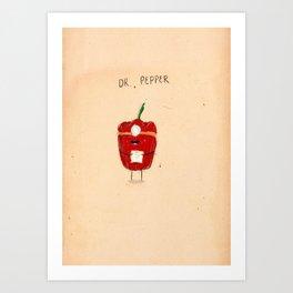 Dr. Pepper Art Print