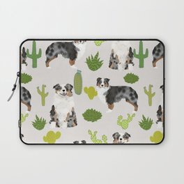 Australian Shepherd owners dog breed cute herding dogs aussie dogs animal pet portrait cactus Laptop Sleeve