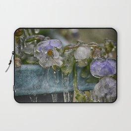 Pansies on Ice Laptop Sleeve