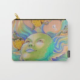 Mermaid With Baby Turtles Drawing Carry-All Pouch