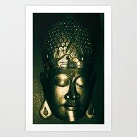 buddah Art Prints featuring Buddah Face by Gloria Betancur