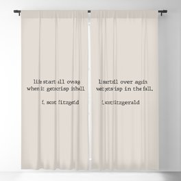 Gatsby quote - Life starts all over again Blackout Curtain