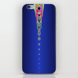 Drops of Colour (Dark Blue a12) iPhone Skin