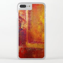 Abstract Art Color Fields Orange Red Yellow Gold Clear iPhone Case
