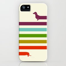 (Very) Long Dachshund iPhone (5, 5s) Slim Case