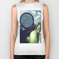 volkswagen Biker Tanks featuring volkswagen turtle car by gzm_guvenc