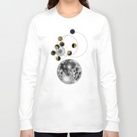 the moon Long Sleeve T-shirts featuring Moon by J Arell