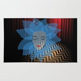 Laura Palmer Blue Rose in the Red Room Rug