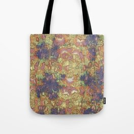 Mineral Map - Abstract Art Tote Bag