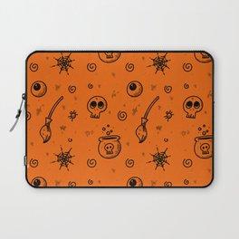Halloween symbols seamless pattern Laptop Sleeve