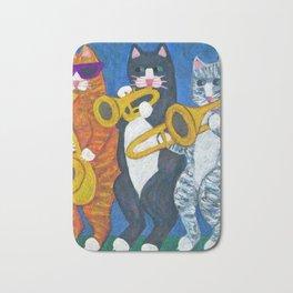 Salsa Cats Brass Section Bath Mat