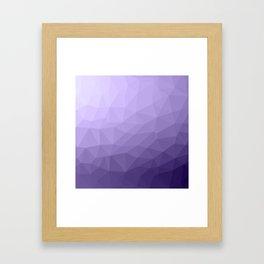 Ultra violet purple geometric mesh Framed Art Print