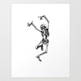 DANCING SKULL Art Print