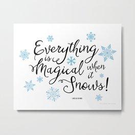 Gilmore Girls Quote - Magical Snow Metal Print