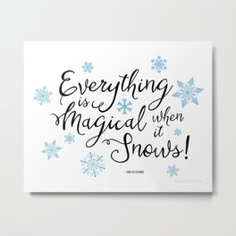 Gilmore Girls Quote - Magical Snow Metal Print