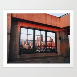 Chicago parking garage sunset Art Print