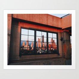 Chicago parking garage sunset Art Print