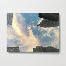 Looking up at Skyscrapers Metal Print