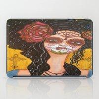 dia de los muertos iPad Cases featuring Dia De Los Muertos by Lesa Barry