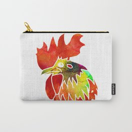 Watercolor rooster Carry-All Pouch