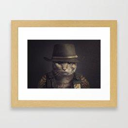 Cat in the hat Framed Art Print