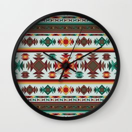 Aztec Pattern 2 Wall Clock