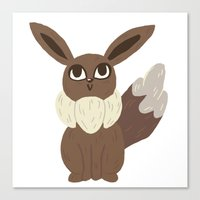 eevee Canvas Prints featuring Eevee by Jubear