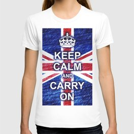 Keep Calm and Carry On Pastel Sketch T-shirt