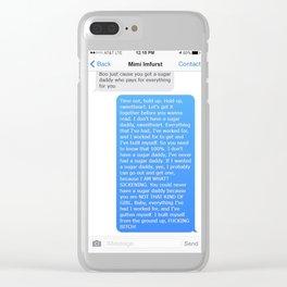 SHANGELA SUGAR DADDY TEXT Clear iPhone Case