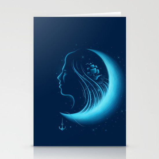 Moonlight Grace Stationery Cards