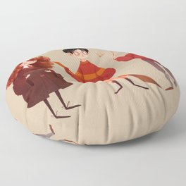 Friendship and Bravery Floor Pillow