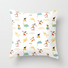You go, girl pattern! Throw Pillow