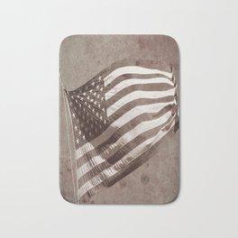 U.S Flag Vintage Bath Mat