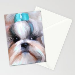 Little Boy Shih Tzu Stationery Cards