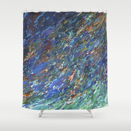 Surfacing Up In A Wave Juul Art Shower Curtain