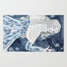 Snow Queen at the window Rug