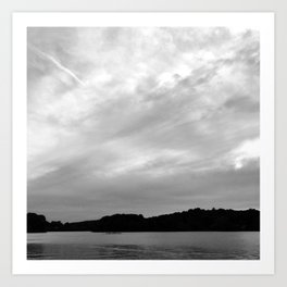 Spy Pond Rowers  Art Print