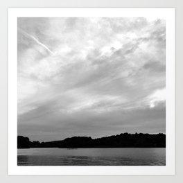 Spy Pond Rowers  Art Print